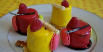 Petits gâteaux en couleur