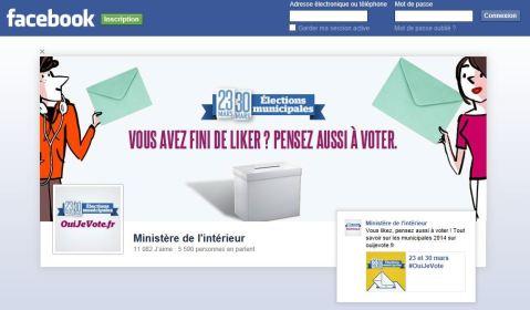 oui je vote page facebook accès